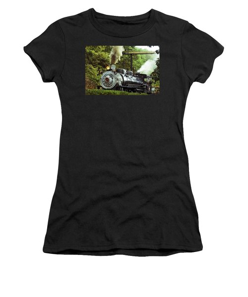 Steam Engine Women's T-Shirt (Junior Cut) by Laurie Perry