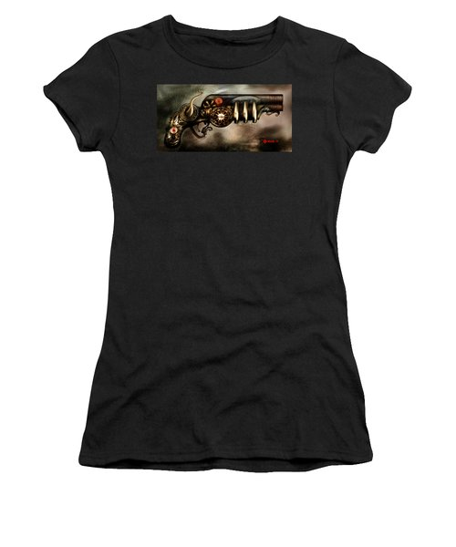 Steam Punk Pistol Mk II Women's T-Shirt (Junior Cut) by Kim Gauge