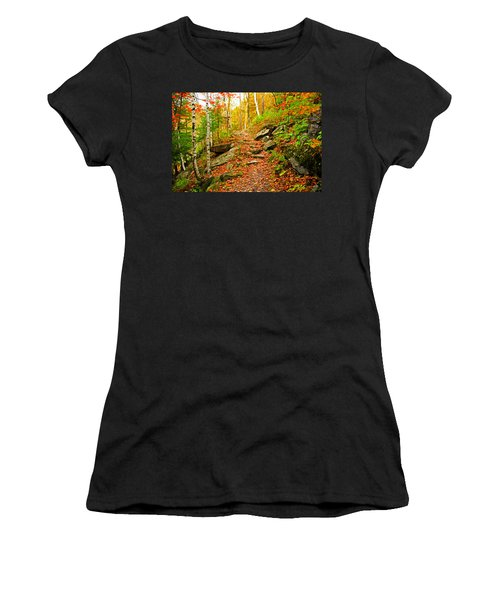 Women's T-Shirt (Junior Cut) featuring the photograph Stepping Stones by Bill Howard