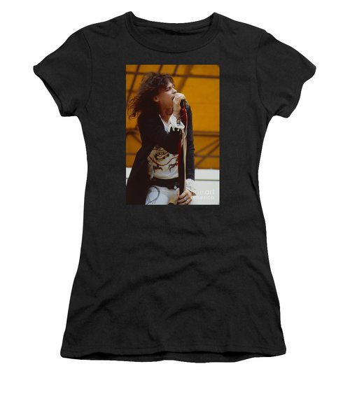 Steven Tyler Of Aerosmith At Monsters Of Rock In Oakland Ca Women's T-Shirt (Athletic Fit)