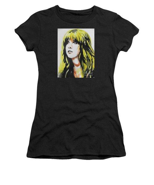 Stevie Nicks 01 Women's T-Shirt (Junior Cut) by Chrisann Ellis