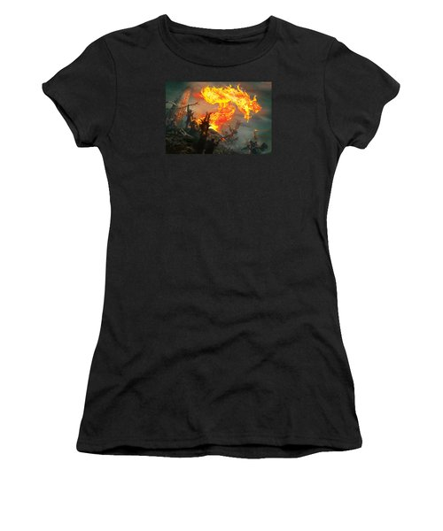 Stoke The Flames Women's T-Shirt (Athletic Fit)
