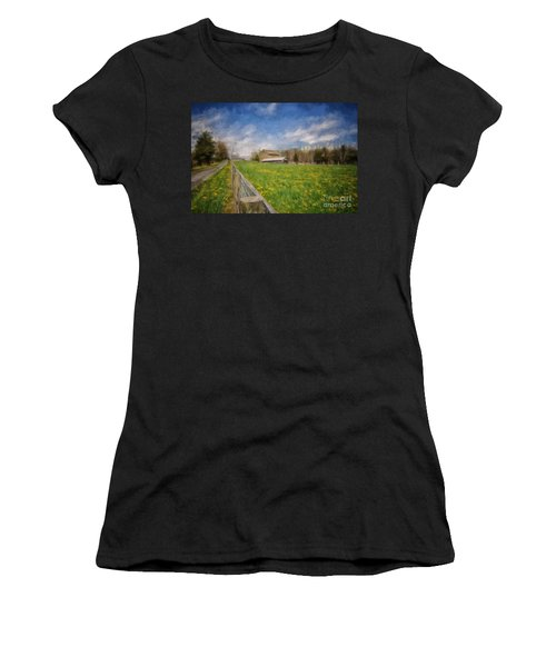 Stone Barn On A Spring Morning Women's T-Shirt