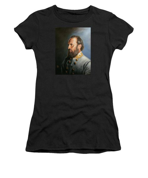 Women's T-Shirt (Junior Cut) featuring the painting Stonewall Jackson by Glenn Beasley