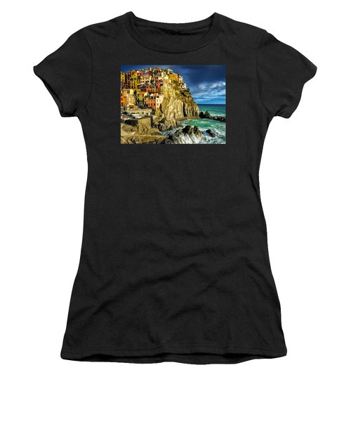 Stormy Day In Manarola - Cinque Terre Women's T-Shirt