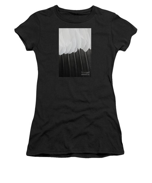 Women's T-Shirt (Junior Cut) featuring the photograph Stormy Feathers by Judy Whitton