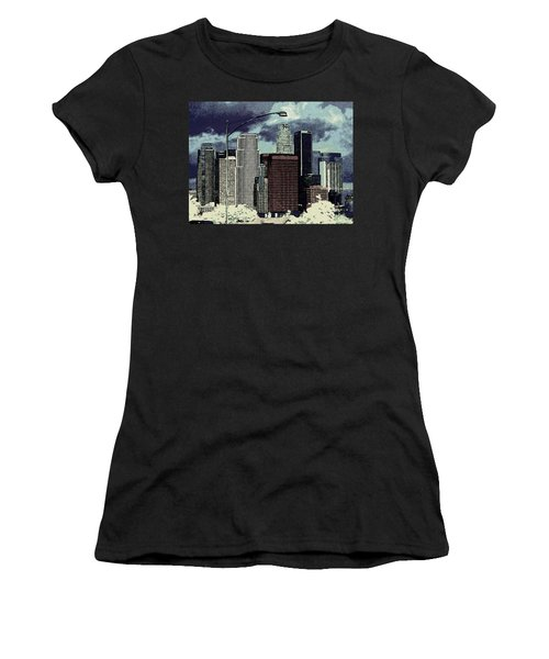 stormy Los Angeles from the freeway Women's T-Shirt (Athletic Fit)