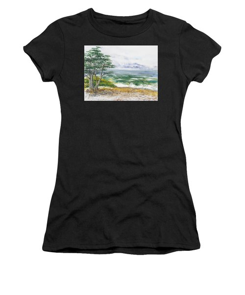 Stormy Morning At Carmel By The Sea California Women's T-Shirt