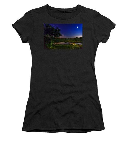 Strangers In The Night Women's T-Shirt (Junior Cut) by Alexey Stiop