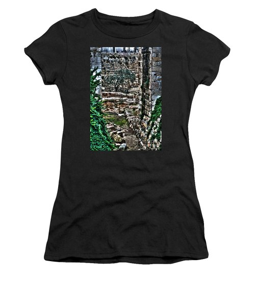 Women's T-Shirt (Junior Cut) featuring the photograph Street In Jerusalem by Doc Braham
