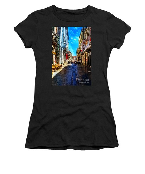 Streets Of Lisbon 1 Women's T-Shirt (Junior Cut) by Mary Machare