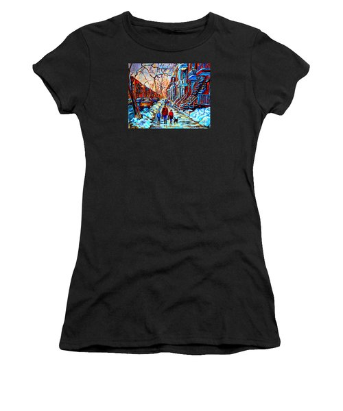 Streets Of Montreal Women's T-Shirt (Junior Cut) by Carole Spandau