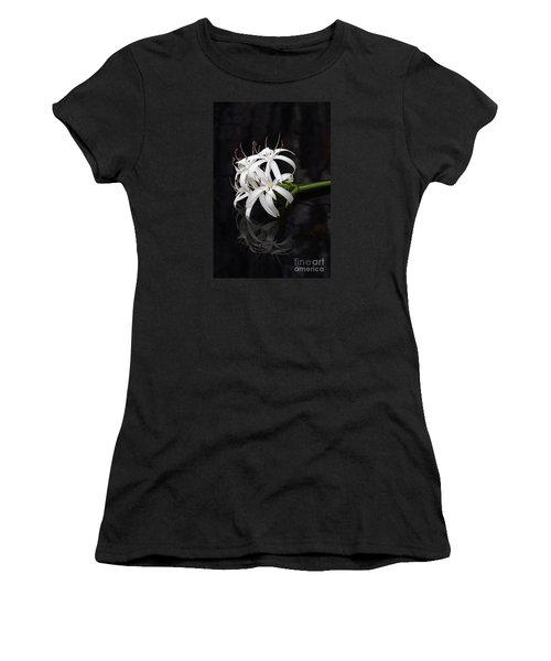Women's T-Shirt (Junior Cut) featuring the photograph String Lily #1 by Paul Rebmann