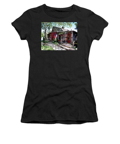 Women's T-Shirt (Junior Cut) featuring the photograph Strode Mill West Chester Pa by Polly Peacock