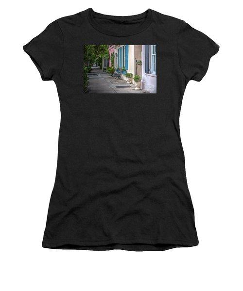 Strolling Down Rainbow Row Women's T-Shirt