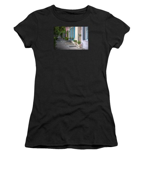 Strolling Down Rainbow Row Women's T-Shirt