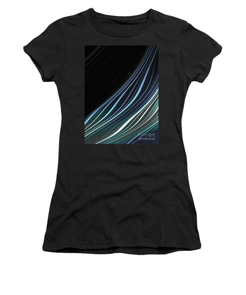 Study In Blues Women's T-Shirt (Athletic Fit)