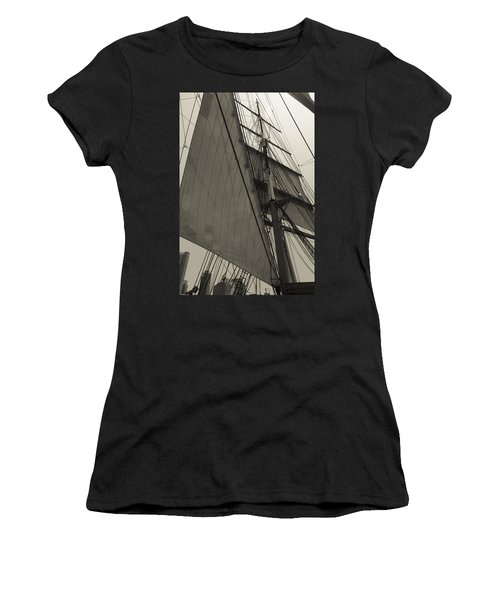 Suare And Triangle Black And White Sepia Women's T-Shirt