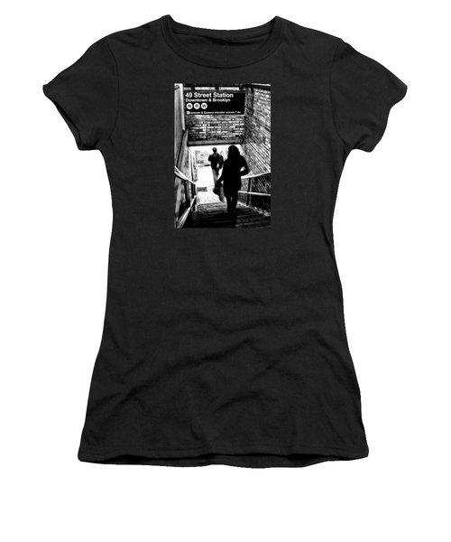 Subway Shadows Women's T-Shirt (Athletic Fit)