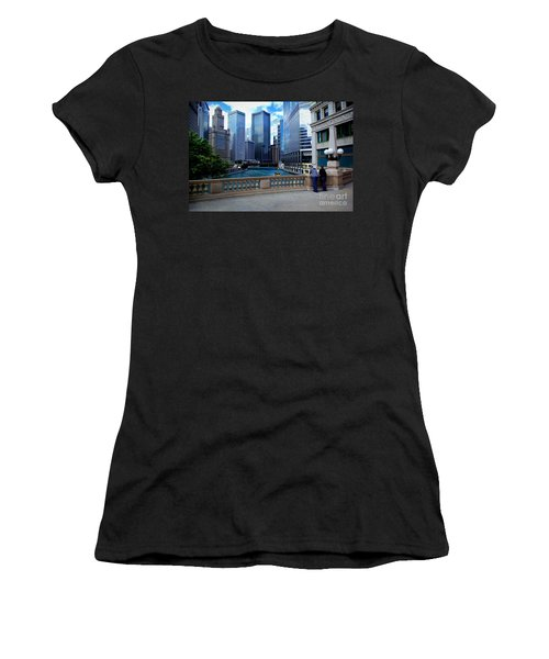 Summer Breeze On The Chicago River - Color Women's T-Shirt