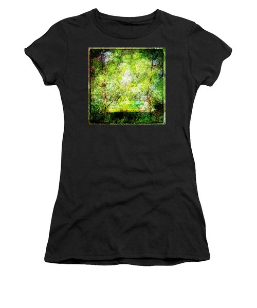 Women's T-Shirt (Junior Cut) featuring the mixed media Summer Days Of Yore #1 by Sandy MacGowan