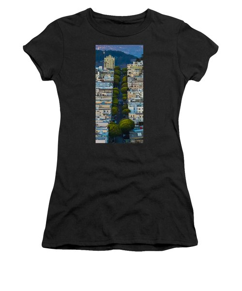 Summer Green On Lombard Street Women's T-Shirt (Athletic Fit)