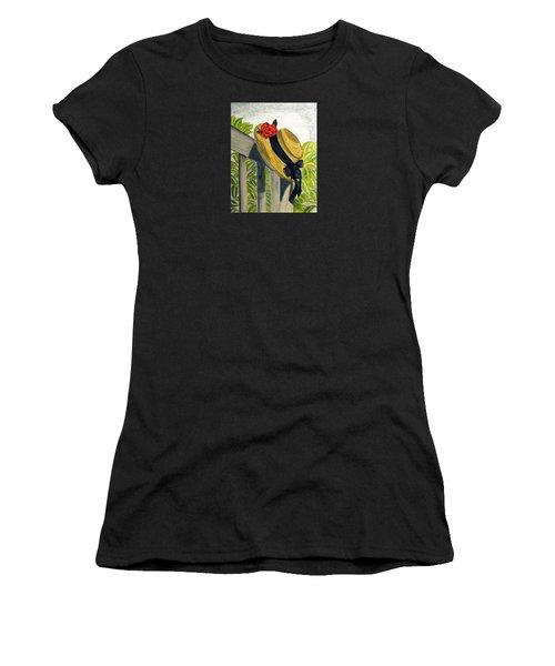 Summer Hat Women's T-Shirt (Athletic Fit)