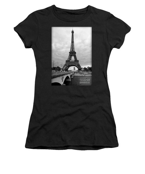 Summer Storm Over The Eiffel Tower Women's T-Shirt