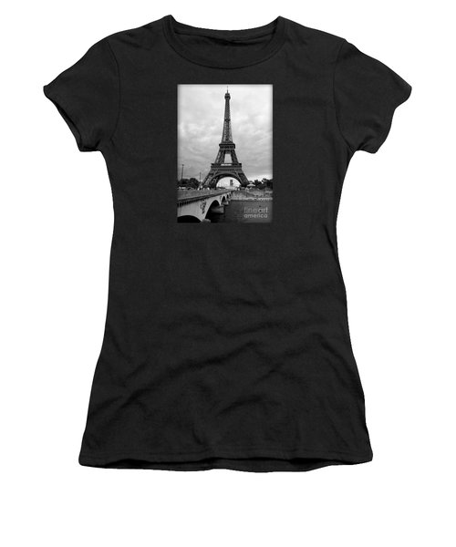 Summer Storm Over The Eiffel Tower Women's T-Shirt (Athletic Fit)