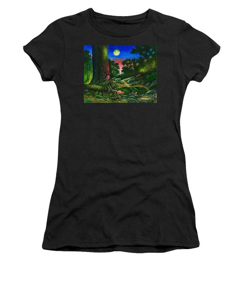 Summer Twilight In The Forest Women's T-Shirt (Athletic Fit)