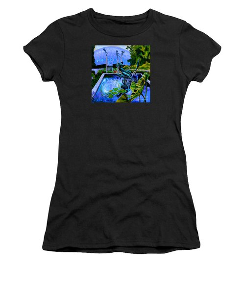 Sun Glitter Mermaid At Missouri Botanical Garden Women's T-Shirt (Athletic Fit)