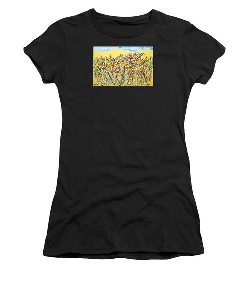 Sun-kissed Flower Garden Women's T-Shirt (Athletic Fit)