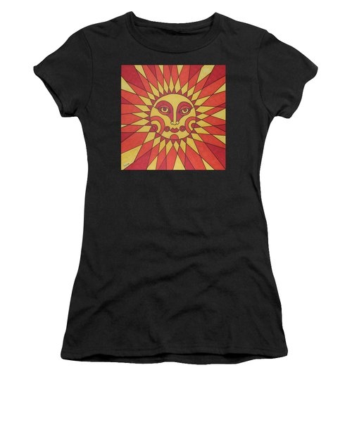 Women's T-Shirt (Junior Cut) featuring the painting Sunburst by Susie Weber
