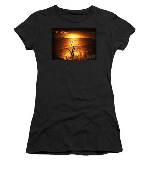 Sundown In The Mountains Women's T-Shirt (Junior Cut) by Lydia Holly