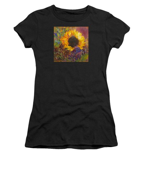 Sunflower Dance Original Painting Impressionist Women's T-Shirt