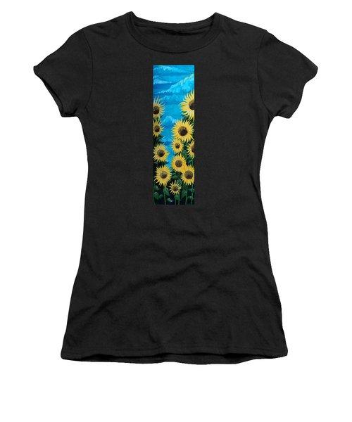 Sunflower Fun Women's T-Shirt (Athletic Fit)