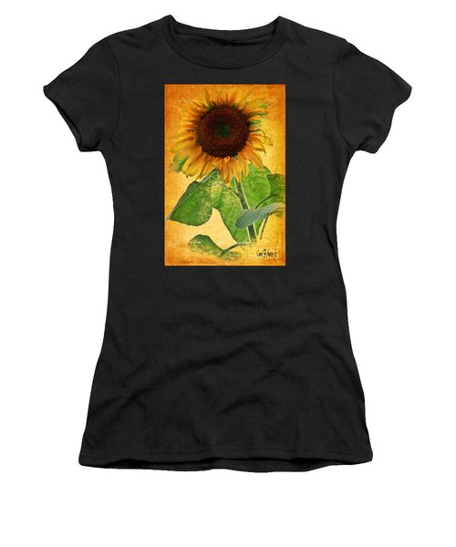 Sunny Sunflower Wall Art Women's T-Shirt (Athletic Fit)