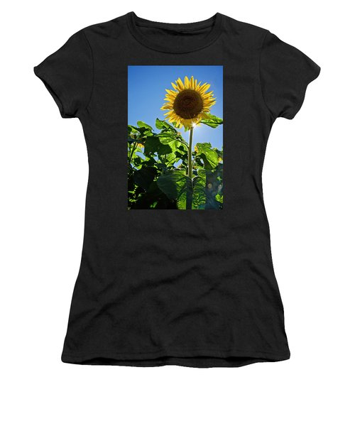 Sunflower With Sun Women's T-Shirt (Athletic Fit)