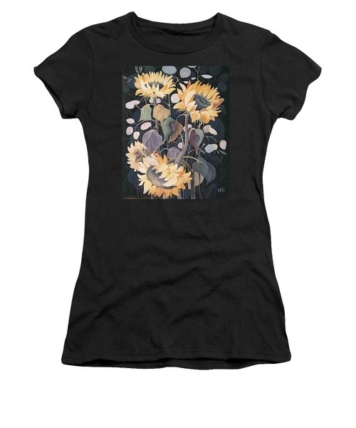 Sunflowers' Symphony Women's T-Shirt (Junior Cut) by Marina Gnetetsky