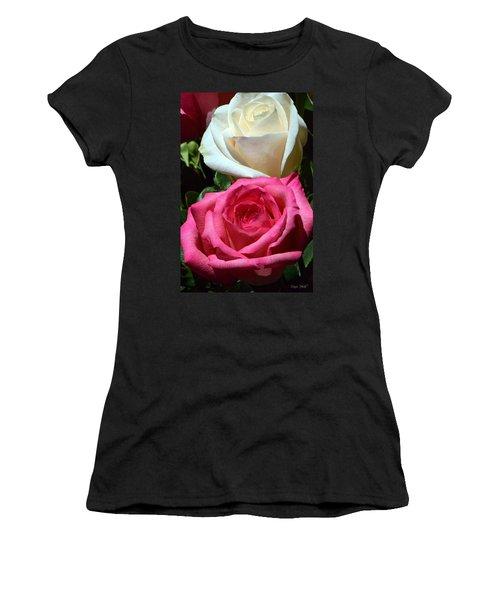 Sunlit Roses Women's T-Shirt (Junior Cut) by Marie Hicks