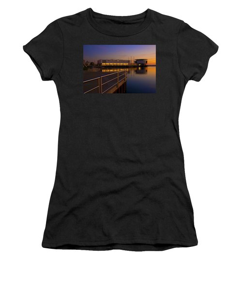 Women's T-Shirt (Junior Cut) featuring the photograph Sunrise At The Lakefront by Jonah  Anderson