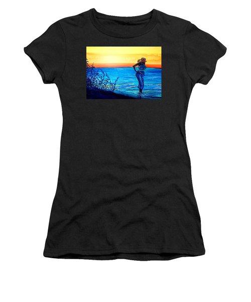 Sunrise Blues Women's T-Shirt (Athletic Fit)