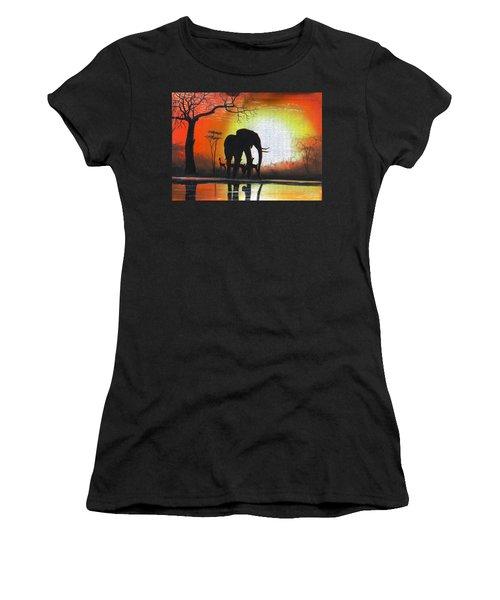 Sunrise In Africa Women's T-Shirt
