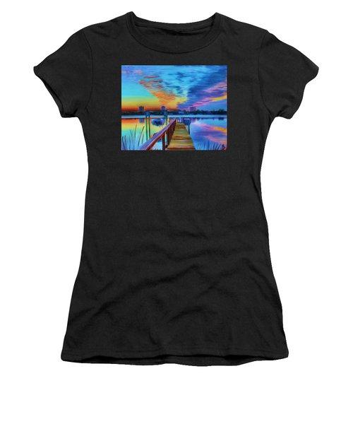 Sunrise On The Dock Women's T-Shirt