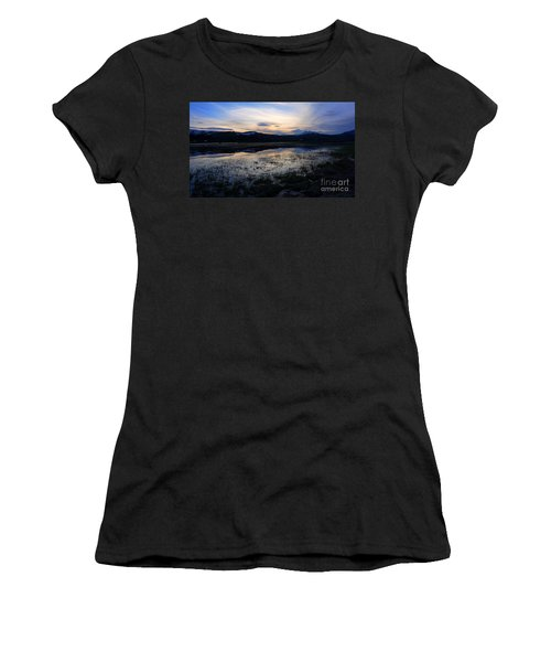 Sunset At A Lake Near Mammoth In Yellowstone Women's T-Shirt