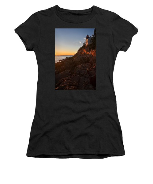 Women's T-Shirt (Junior Cut) featuring the photograph Sunset At Bass Head   by Priscilla Burgers