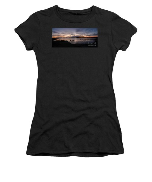 Sunset Over Lake Myvatn In Iceland Women's T-Shirt (Athletic Fit)