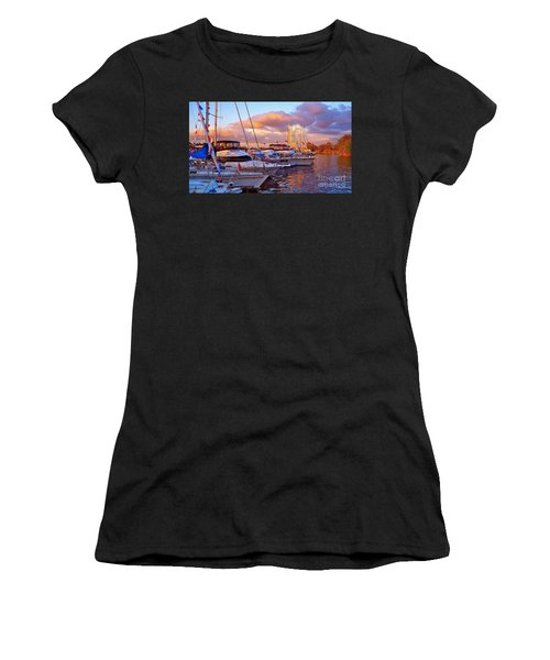 Sunset Before The Show Women's T-Shirt (Athletic Fit)