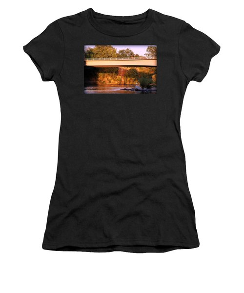 Women's T-Shirt (Junior Cut) featuring the photograph Sunset Dip by Melanie Lankford Photography