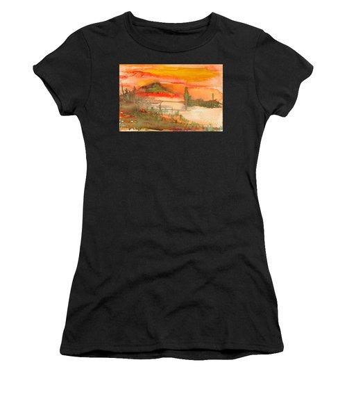 Sunset In Saguaro Desert  Women's T-Shirt (Athletic Fit)